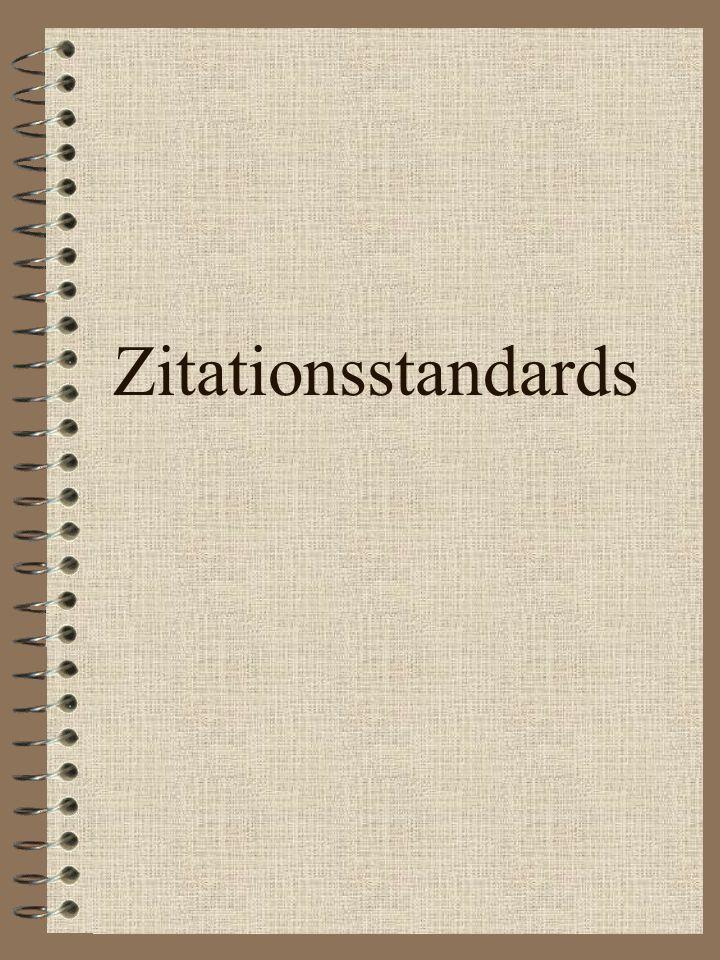 Zitationsstandards