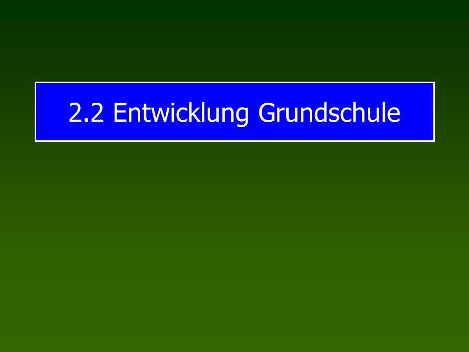 2.2 Entwicklung Grundschule