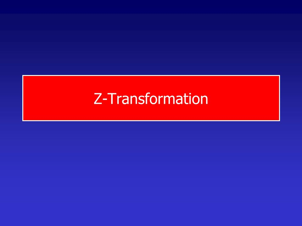 Z-Transformation