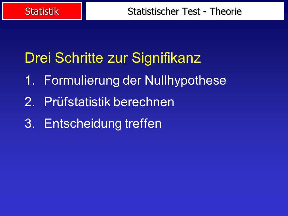 Statistischer Test - Theorie