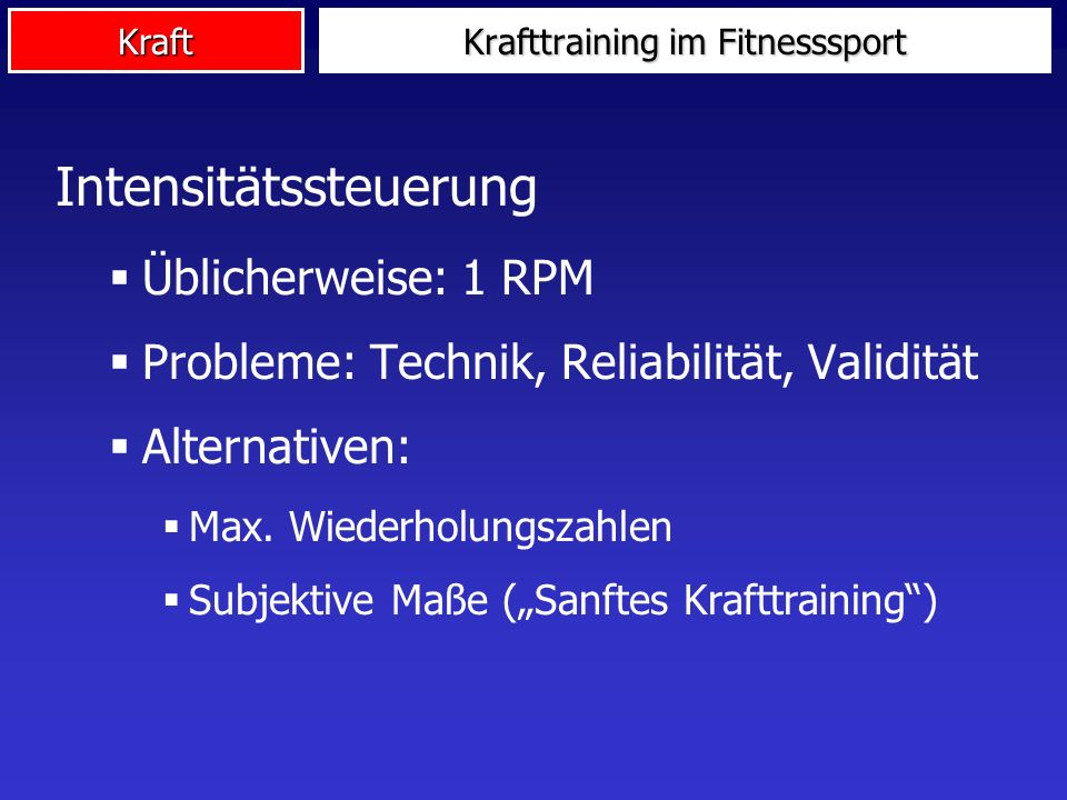 Krafttraining im Fitnesssport