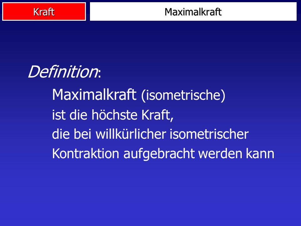 Maximalkraft Definition: