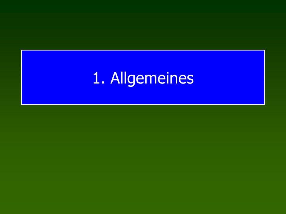 1. Allgemeines