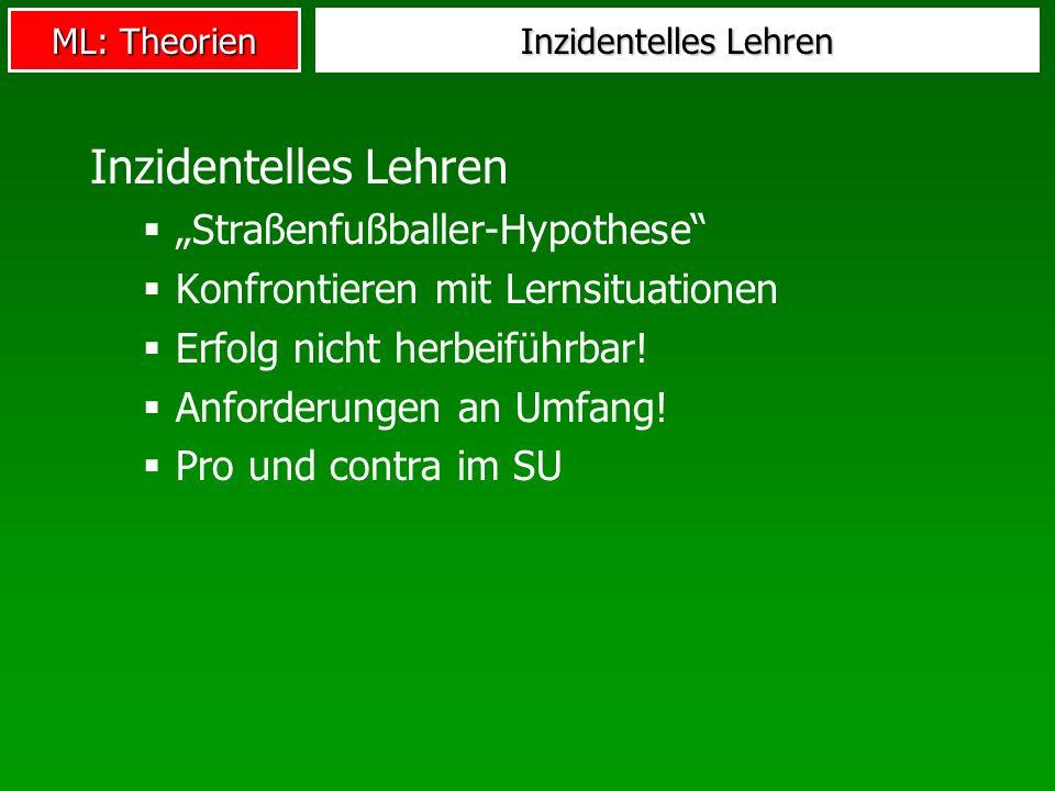 """Inzidentelles Lehren """"Straßenfußballer-Hypothese"""
