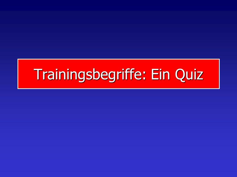 Trainingsbegriffe: Ein Quiz