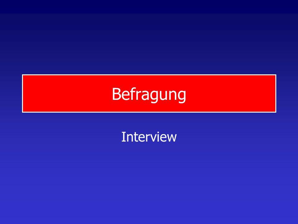 Befragung Interview