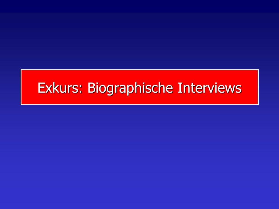 Exkurs: Biographische Interviews