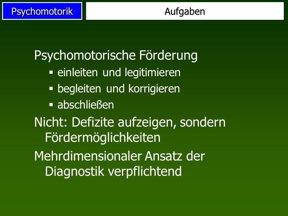 Psychomotorische Förderung