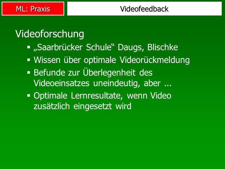 """Videoforschung """"Saarbrücker Schule Daugs, Blischke"""