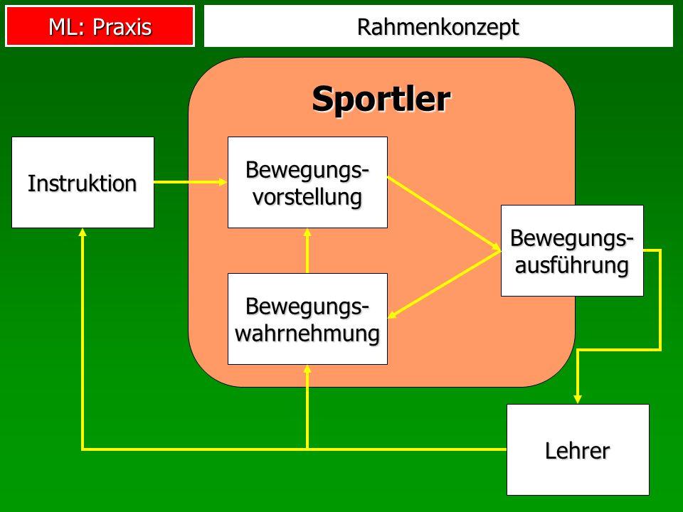 Sportler Rahmenkonzept Bewegungs-vorstellung Instruktion