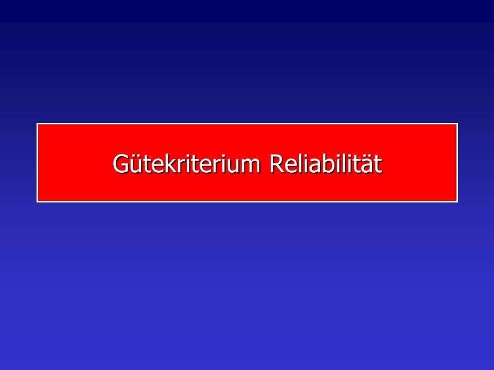 Gütekriterium Reliabilität