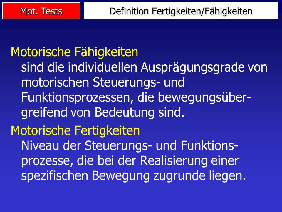 Definition Fertigkeiten/Fähigkeiten