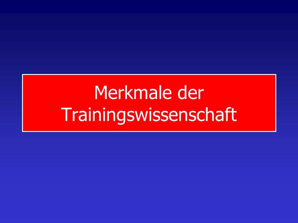 Merkmale der Trainingswissenschaft