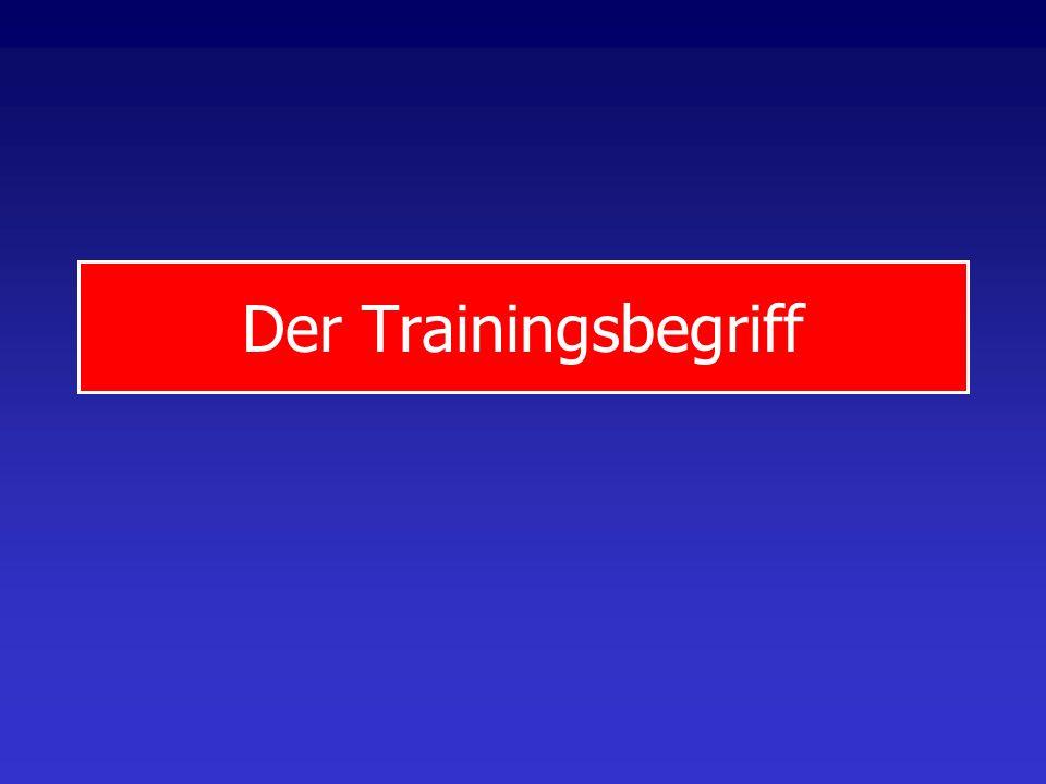 Der Trainingsbegriff