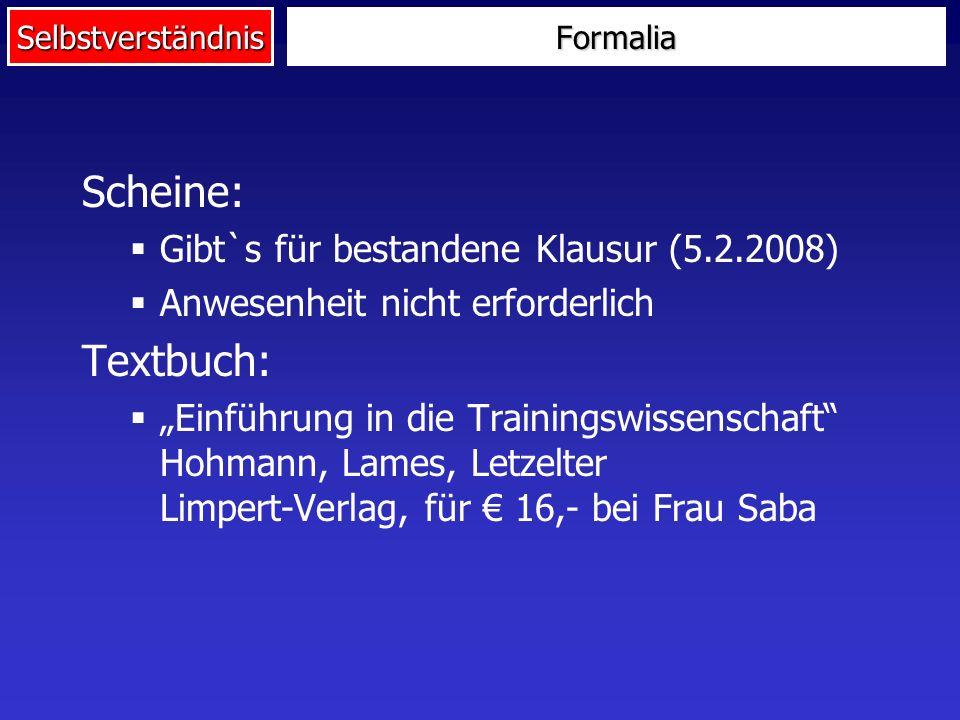 Scheine: Textbuch: Gibt`s für bestandene Klausur (5.2.2008)