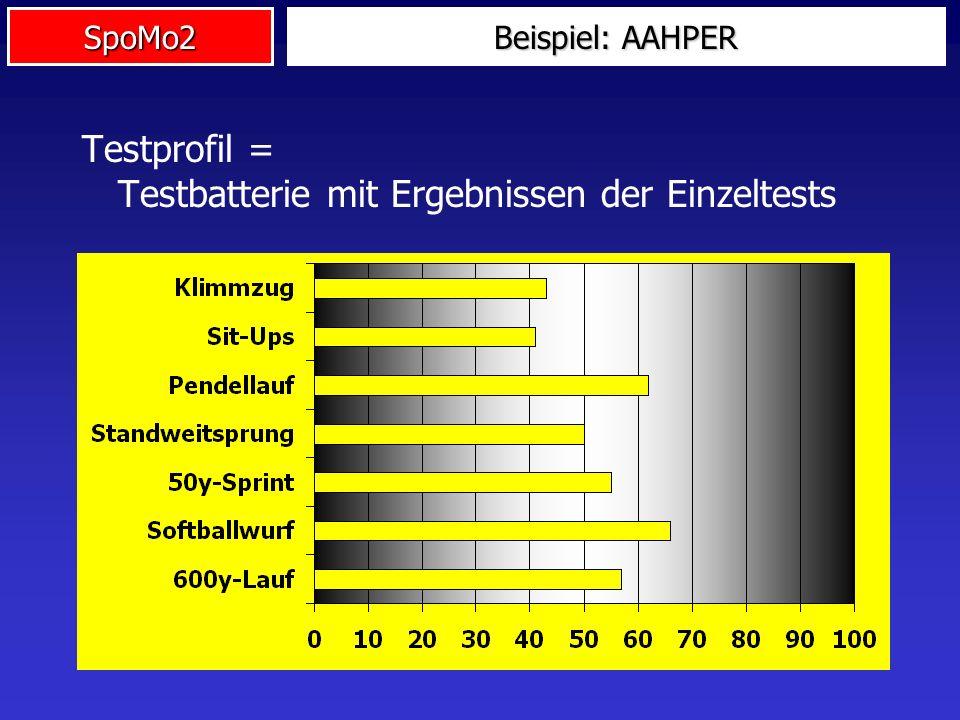 Testprofil = Testbatterie mit Ergebnissen der Einzeltests