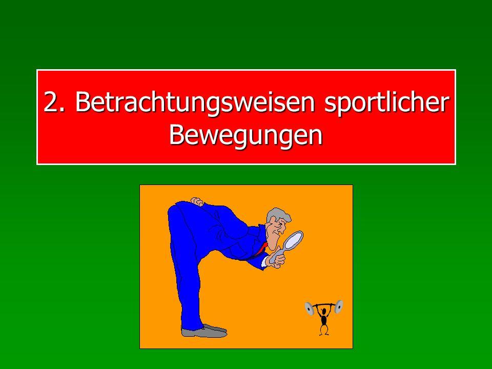 2. Betrachtungsweisen sportlicher Bewegungen