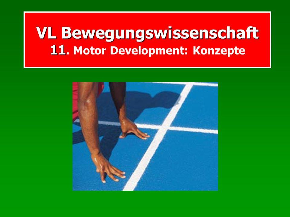 VL Bewegungswissenschaft 11. Motor Development: Konzepte
