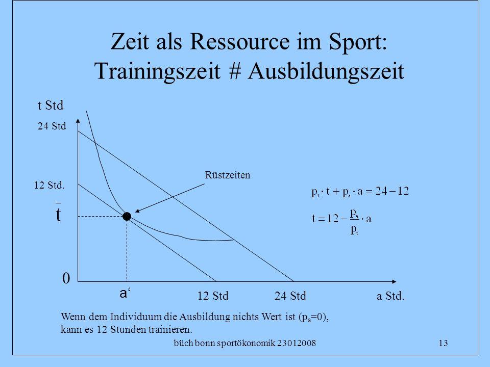 Zeit als Ressource im Sport: Trainingszeit # Ausbildungszeit