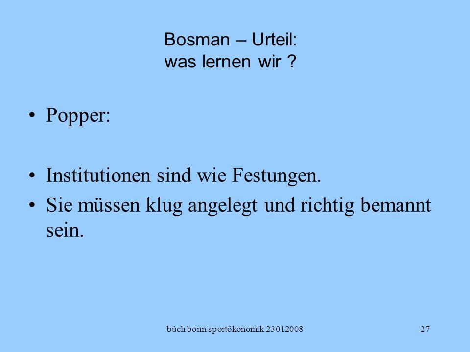 Bosman – Urteil: was lernen wir