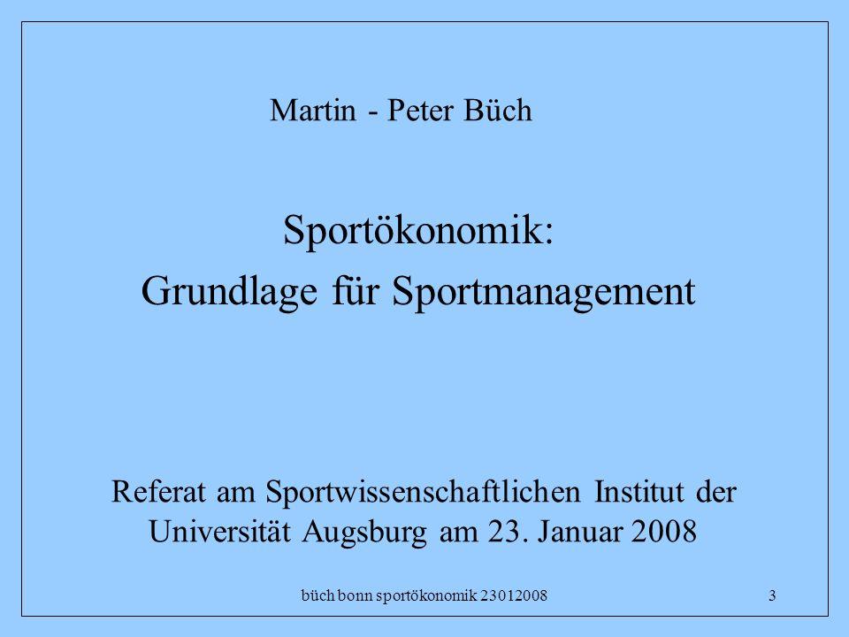 Grundlage für Sportmanagement
