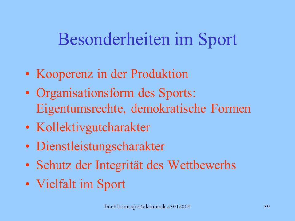 Besonderheiten im Sport
