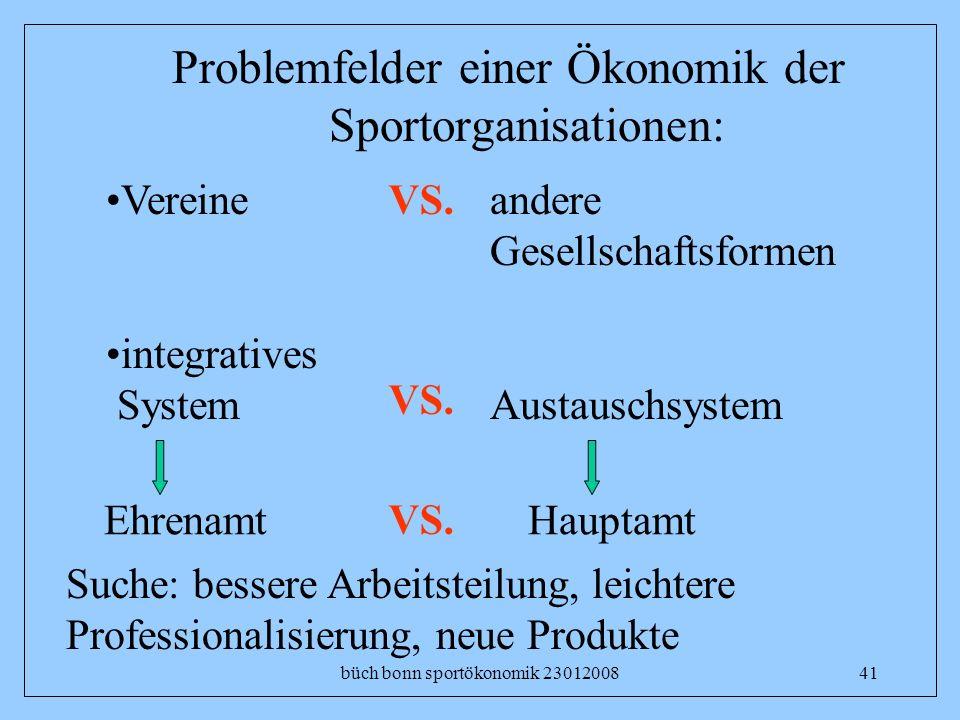 Problemfelder einer Ökonomik der Sportorganisationen: