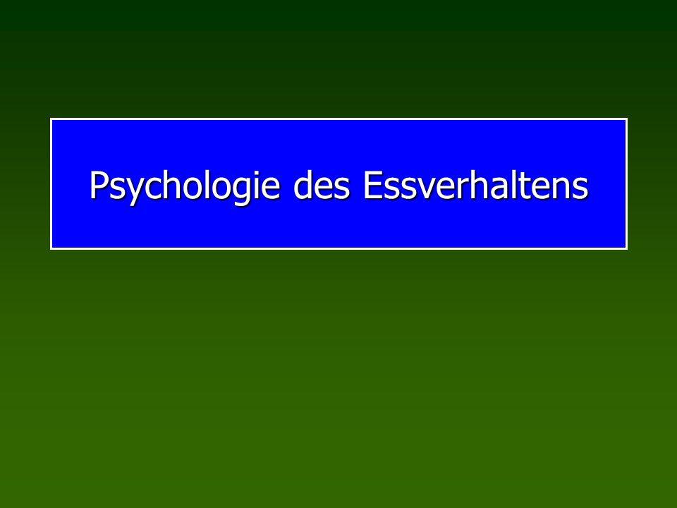 Psychologie des Essverhaltens