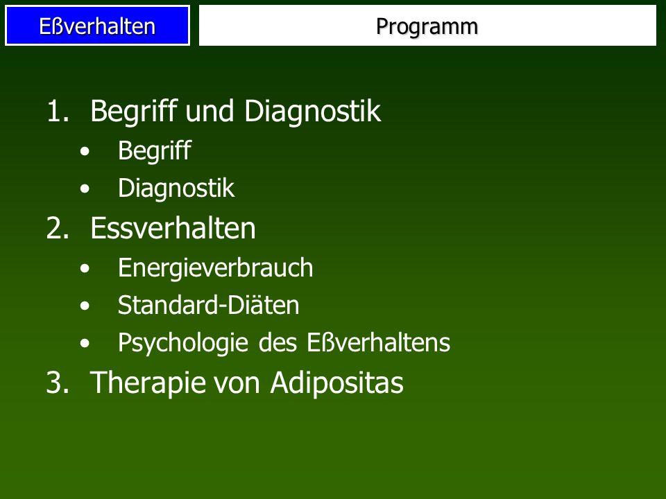 Begriff und Diagnostik