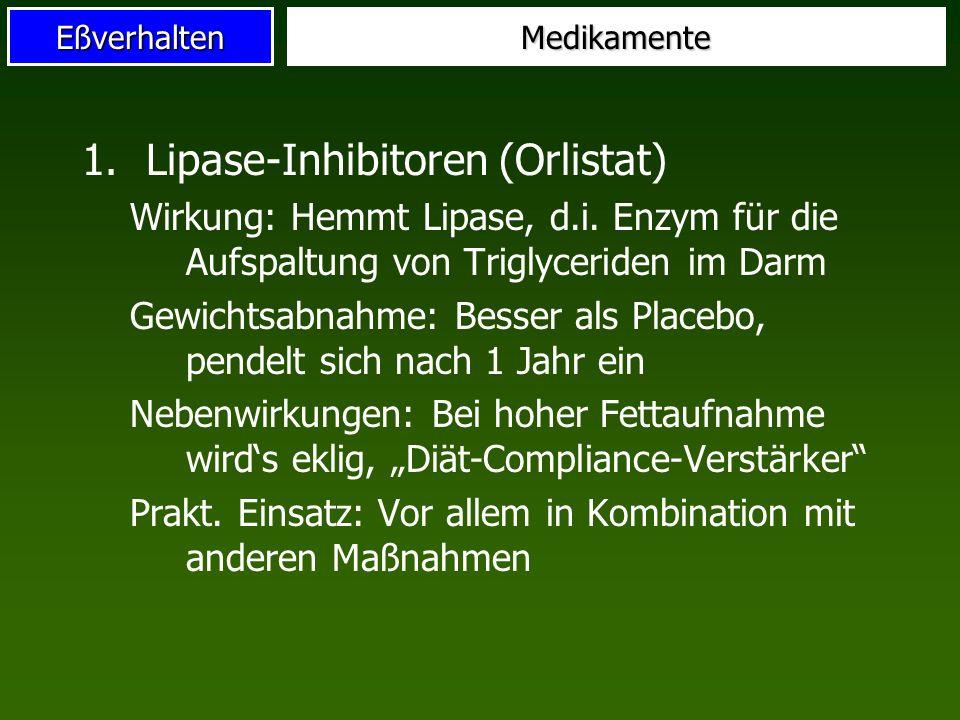 Lipase-Inhibitoren (Orlistat)