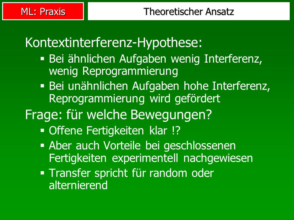 Kontextinterferenz-Hypothese: