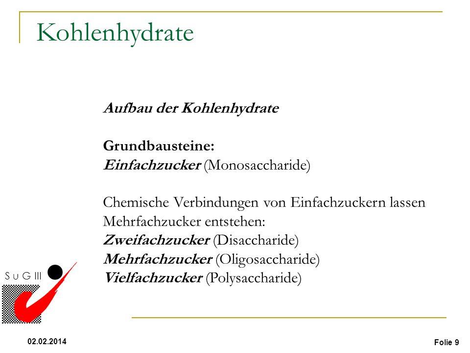 Kohlenhydrate Aufbau der Kohlenhydrate