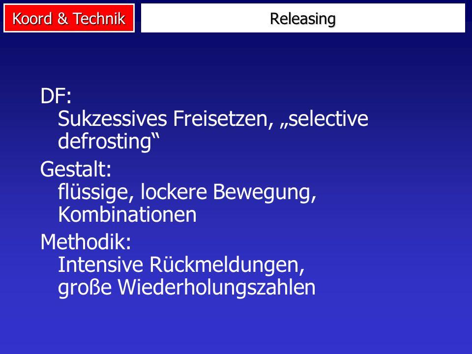 """DF: Sukzessives Freisetzen, """"selective defrosting"""