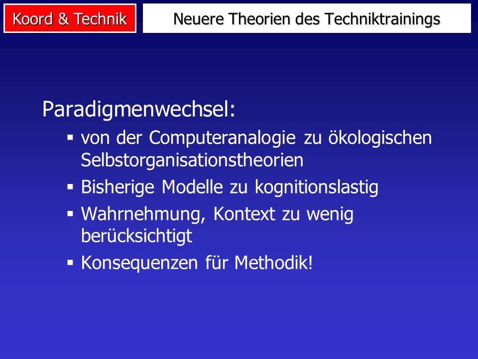 Neuere Theorien des Techniktrainings