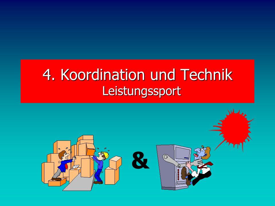 4. Koordination und Technik Leistungssport