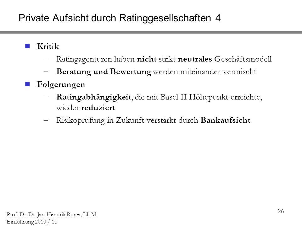 Private Aufsicht durch Ratinggesellschaften 4