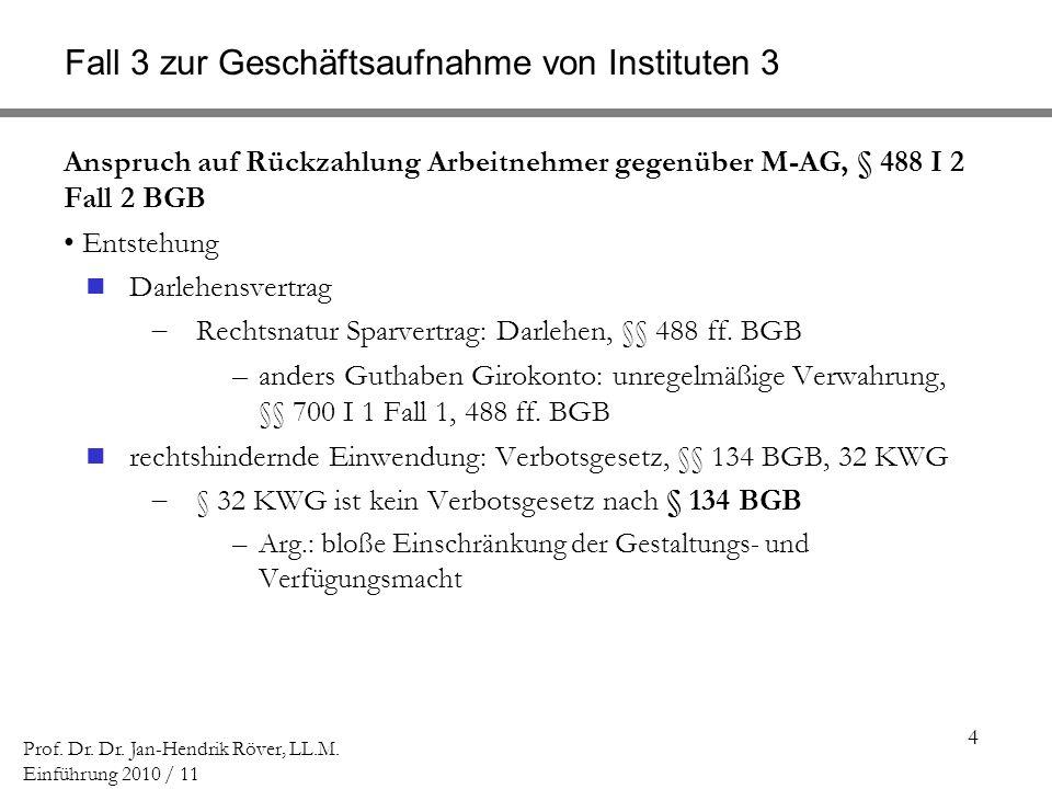 Fall 3 zur Geschäftsaufnahme von Instituten 3