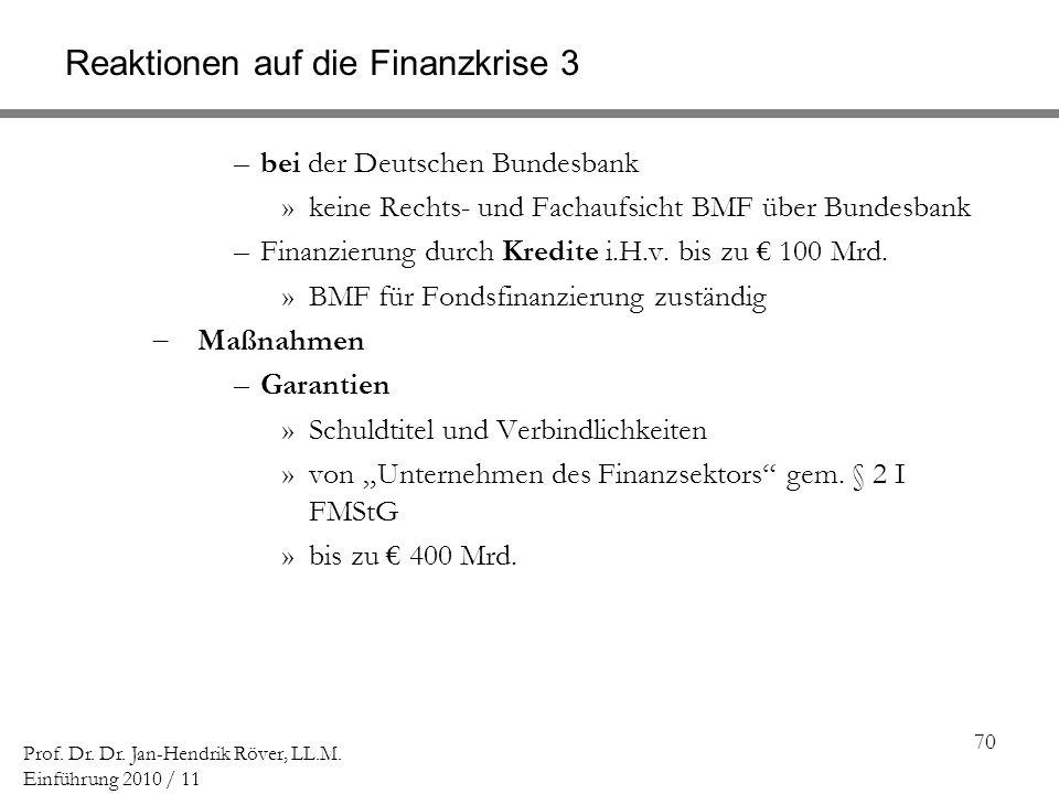 Reaktionen auf die Finanzkrise 3