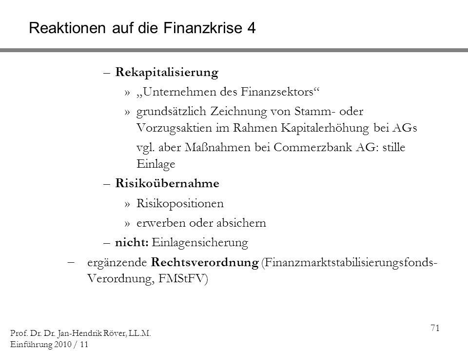 Reaktionen auf die Finanzkrise 4