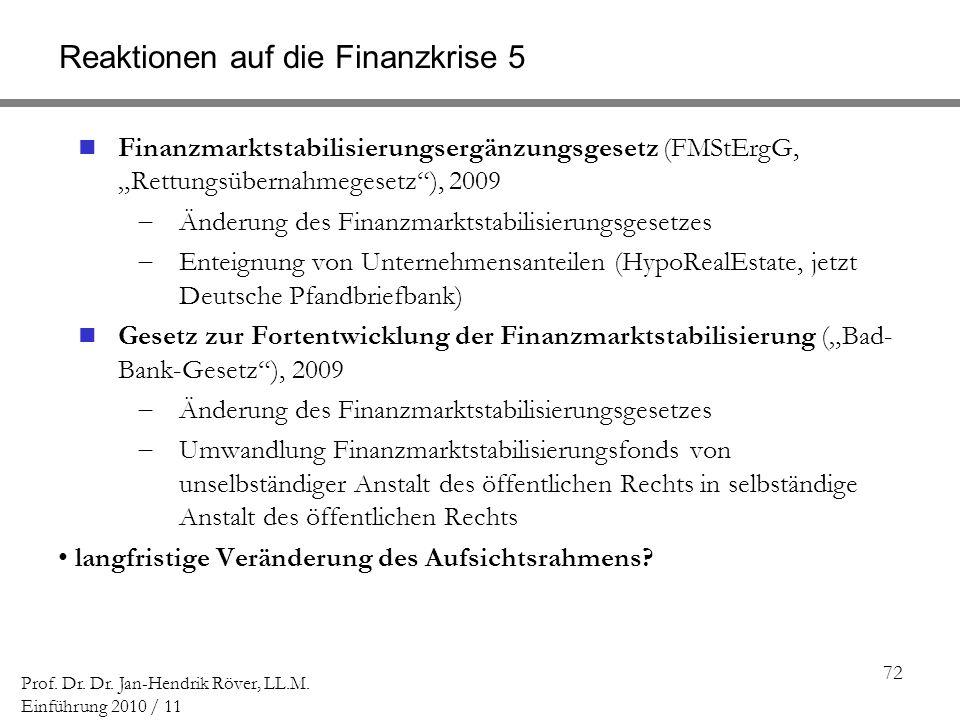 Reaktionen auf die Finanzkrise 5