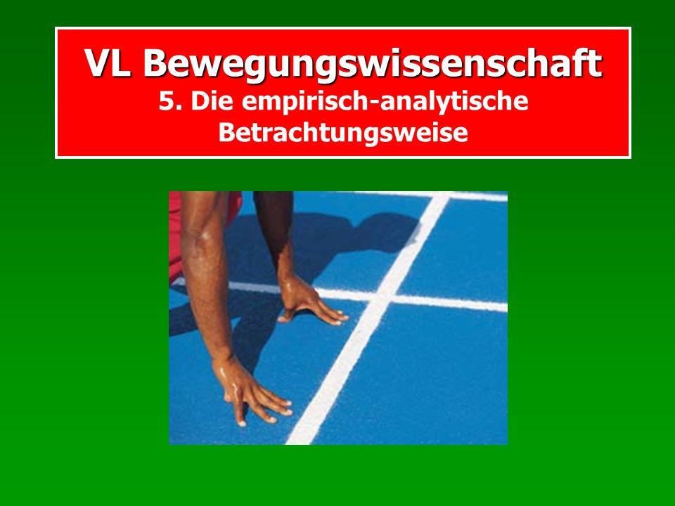 VL Bewegungswissenschaft 5. Die empirisch-analytische Betrachtungsweise