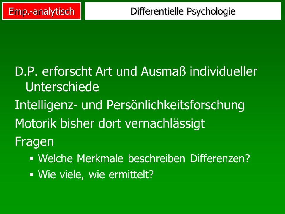 Differentielle Psychologie