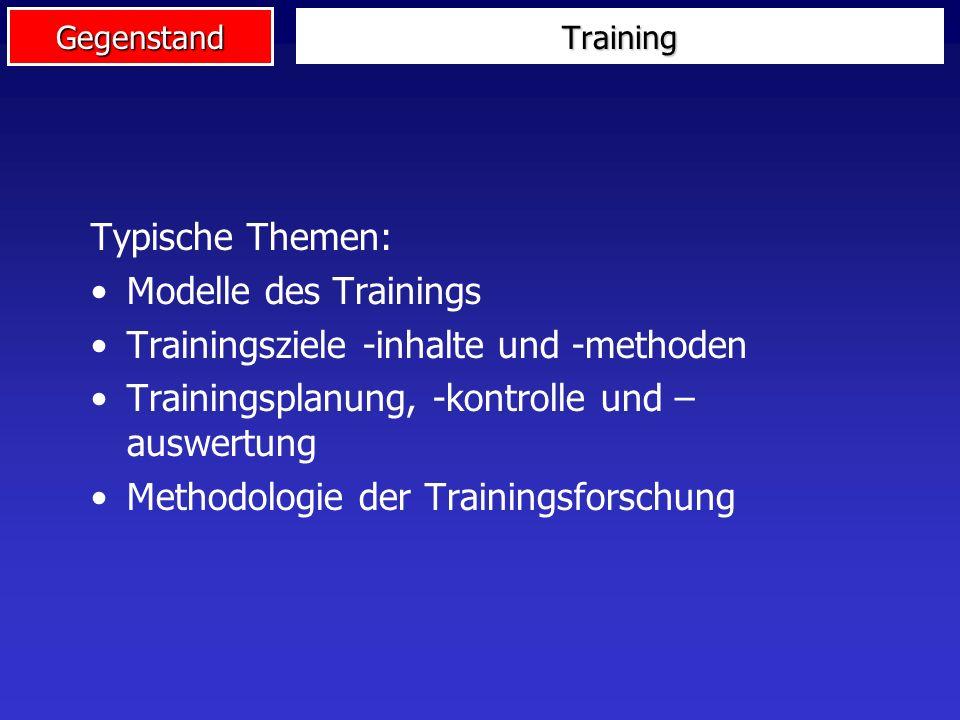 Trainingsziele -inhalte und -methoden