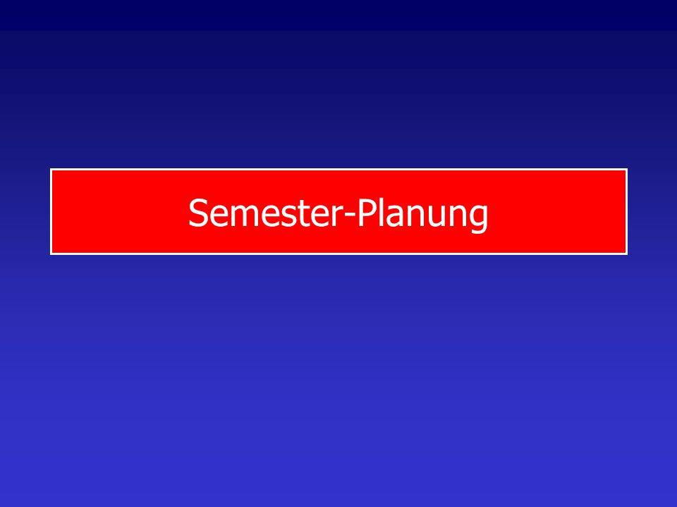 Semester-Planung