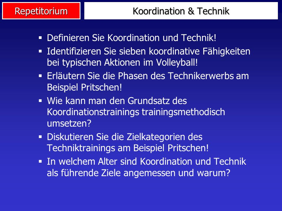 Koordination & Technik