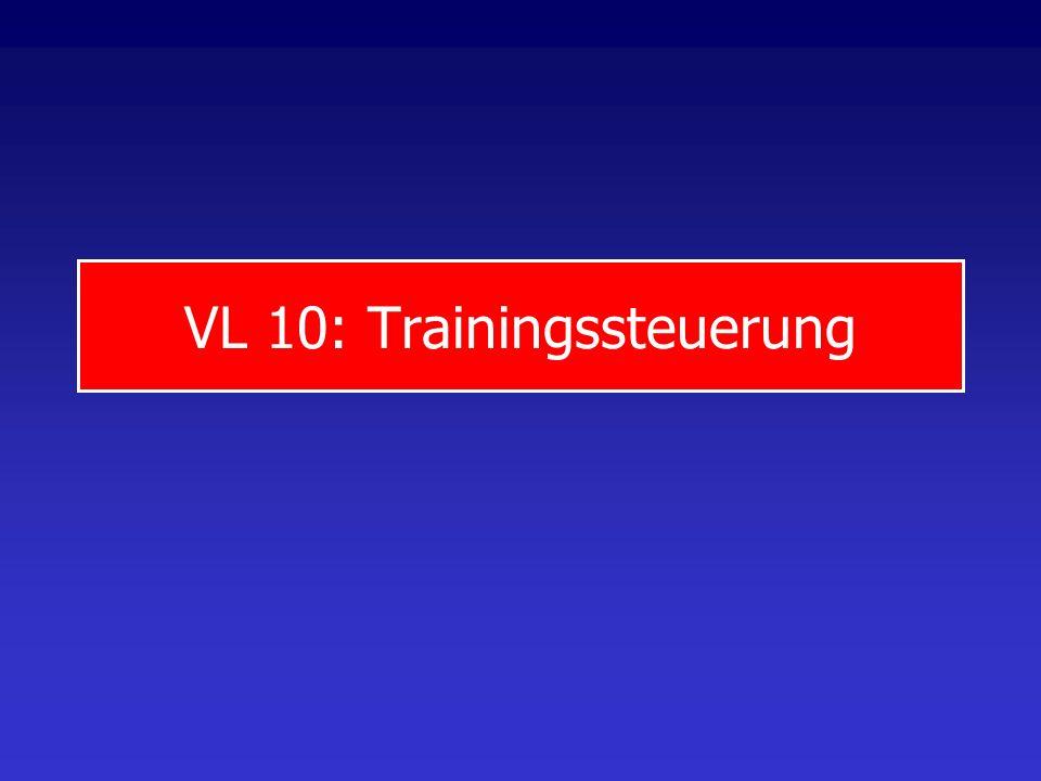 VL 10: Trainingssteuerung