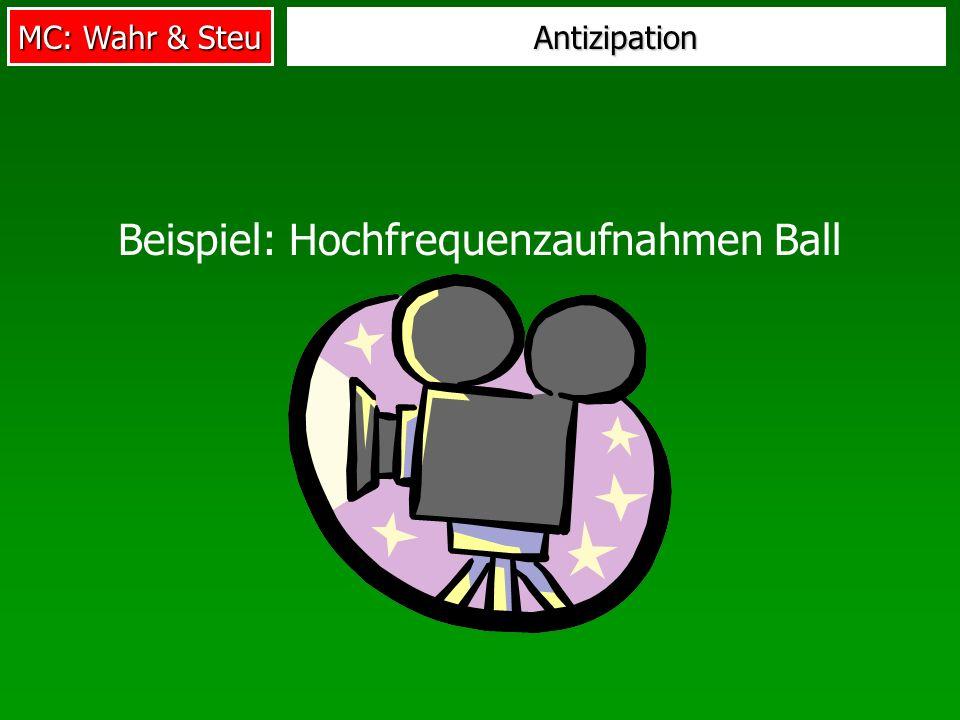Beispiel: Hochfrequenzaufnahmen Ball