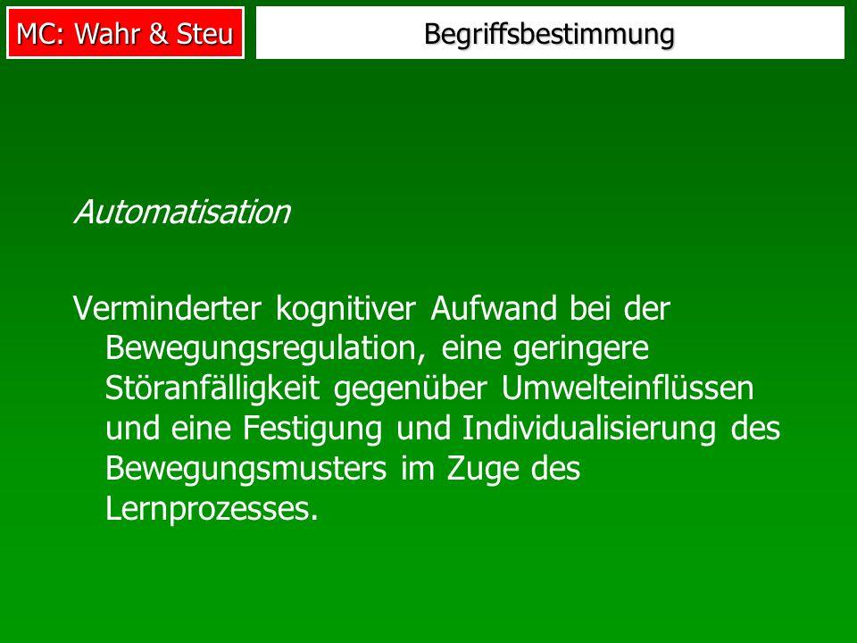 Begriffsbestimmung Automatisation.