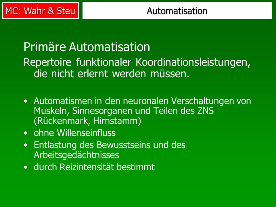 Primäre Automatisation