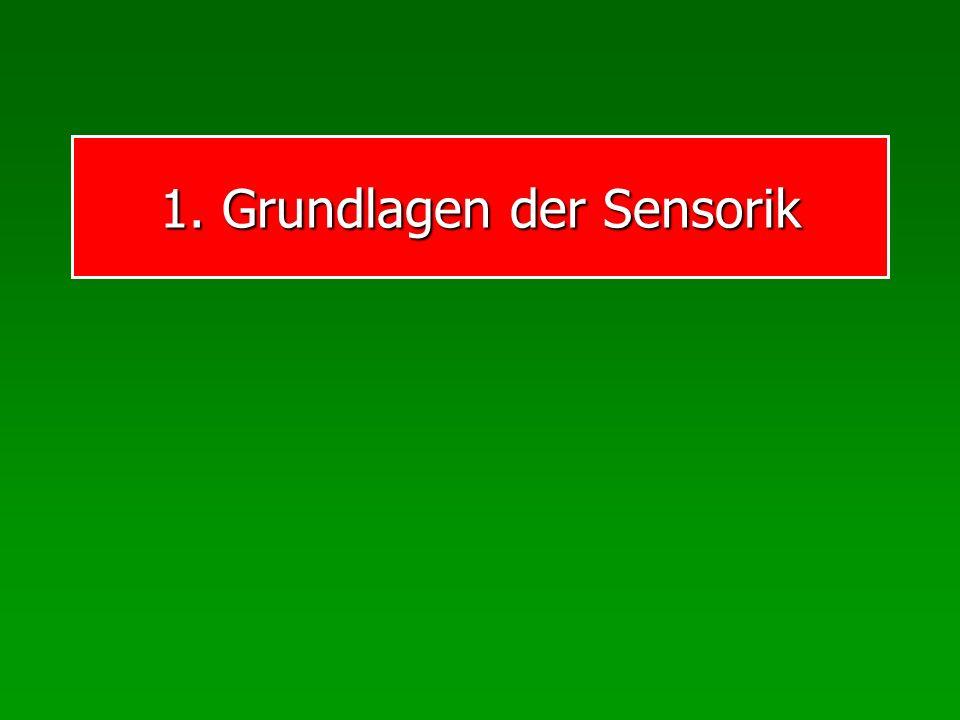 1. Grundlagen der Sensorik